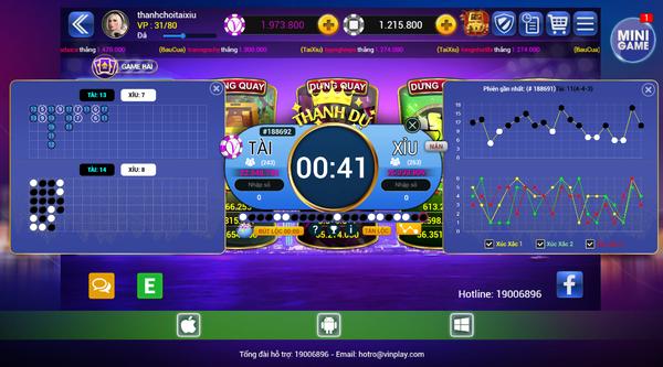 Tài xỉu - Là một trong những game hot nhất tại cổng Vinplay