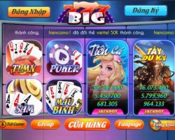 Tải Big777 – Đại diện dòng game Slot đổi thưởng đẳng cấp