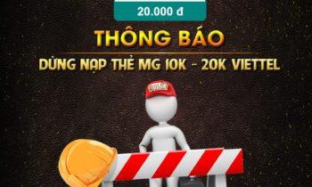Nhất Club: Thông báo ngừng nạp thẻ 10K – 20K Viettel