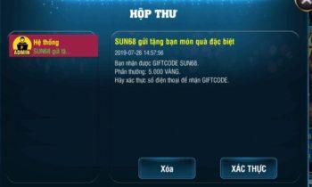 Sun68: Lập tài khoản nhận code khởi nghiệp 5000