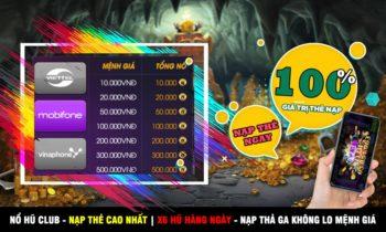 Nổ Hũ Club||Huno.club: Event khuyến mãi nạp thẻ + code 20K