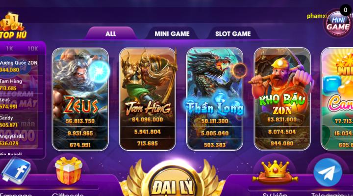 Hệ thống game Zonclub