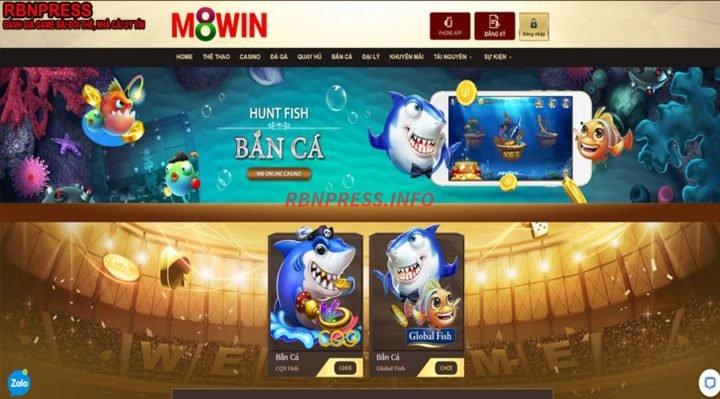 Bắn cá đổi thưởng M8win