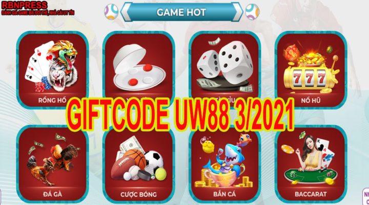 Giftcode ucw88 3/2021