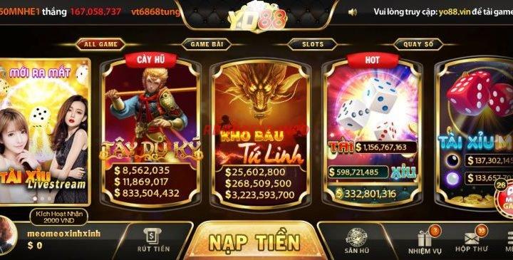 cổng game đổi thưởng trực tuyến yo88 club