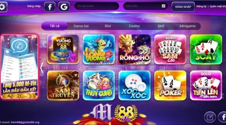 cổng game m88vin shop